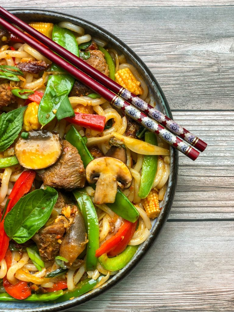 asun stir fry with basil